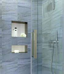 recess shower niche recessed mounting stainless steel wide tall preformed prefab uk