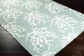 beachy area rugs coastal rugs white c branches on powder blue rug a coastal nautical