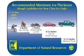 Mn Dnr Ice Thickness Chart The Ice Is Not Safe