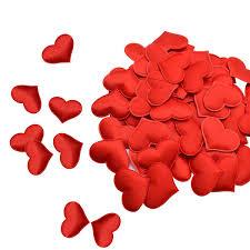 <b>100Pcs</b> 35mm <b>Romantic Sponge</b> Satin Fabric <b>Heart</b> Petals Wedding ...