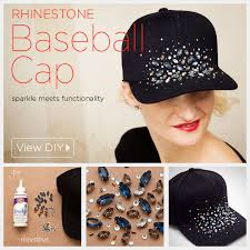 mix it up with sparkle and functionality to create your own diy rhinestone baseball cap add a playful element to your outfit and nix a bad hair day at the