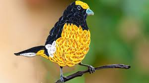 Yellow Bird Design Quilling Artwork How To Make Beautiful Yellow Bird Design
