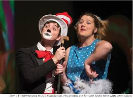 makeup amar abbatiello is the cat in the hat and laura purington is gertrude mcfuzz in mohawk