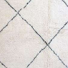 elegant white and black rug beni ourain virgin wool carpet made in moroccan custom bathroom geometric kitchen patterned striped