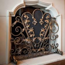 decorative fireplace screens birds summer decorative for awesome wooden fireplace screen