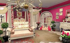 Appealing Romantic Bedroom For Valentine Deco Showing Fabulous Canopy  Valentine Bed With Beautiful Flowers