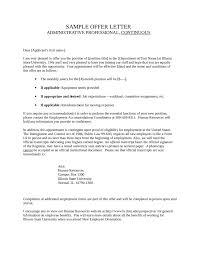 job offer letter sample informatin for letter letter sample job offer letters sample offer letter