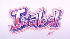 Graffiti Writing Isabel Name Design #33 in 50 Names Promotion | MAT -  YouTube