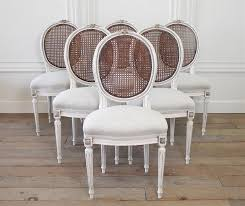 set of six 19th century french louis xvi cane back dining chairs from full bloom cote