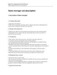 National Sales Manager Job Description Template Car Resume Area