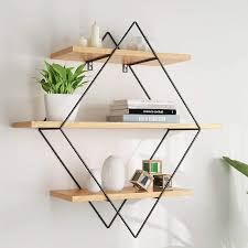 small wooden wall shelf rack wall hanging partition bookcase wrought iron solid wood wall shelf industrial wind wall decoration shelf hanging rack living