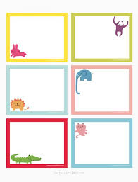 Printable Note Cards Template Animals Printable Note Cards Mr Printables Printables Lables And