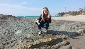 collecting sea glass at laa beach california
