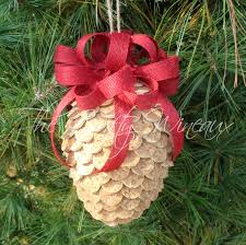 Pine Cone Christmas Decorations Large Winecone Wine Cork Pine Cone Christmas Ornament In