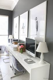 white desk home office. Beautiful Office Ikea Micke Desk Setup In Home Office For Two Throughout White Desk Home Office W