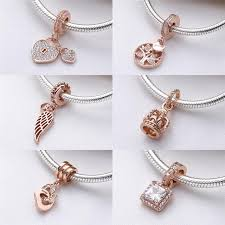 pandora charms silver and rose gold c8680 817d9