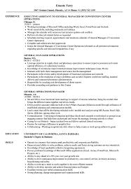 Sample General Manager Resume General Operations Manager Resume Samples Velvet Jobs