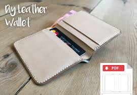 how to hand stitch a small bifold leather wallet