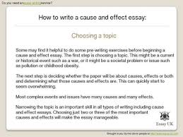 writing a cause and effect essay examples flint journal sponsors  how to write a cause effect essay