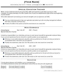 Teacher Resume Objective Examples Simple Special Education Teacher Resume Objective Sample Teaching