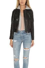 a l c edison leather jacket