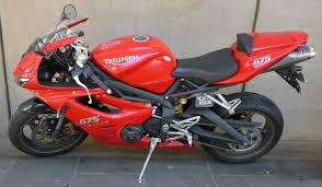 triumph daytona 675 red sport bike australia model 2008 made