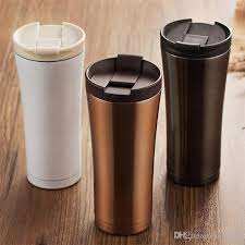 topstech 500ml car coffee mug double wall stainless steel insulated vacuum thermos cup travel tea water thermal bottle tumbler thermo cup glass coffee mugs