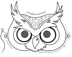 Small Picture Owl activities FREE printable Owl Mask Coloring Page Owl