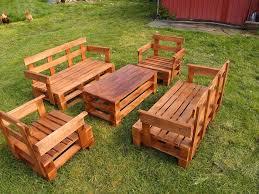 garden seating. Pallet Garden Seating Set