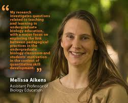 Unh Quote Impressive Melissa Aikens Assistant Professor Of Biology Education UNH Today