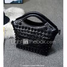 Light In The Box Handbags Women Bags Sheepskin Tote For Casual All Seasons Black