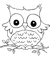 Unbelievable Design Easy Owl Coloring Pages Images For Kids U2026