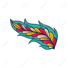 Feather Graphic Design Creative Ornament Of Feather Abstract Indian Pattern Colorful