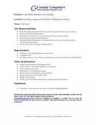 Visual Merchandiser Resume Visual Merchandiser Job Description Template Ideas Collection 26