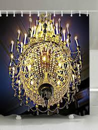 chandeliers print waterproof bathroom shower curtain