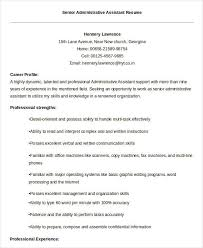 Best Resume For Administrative Assistant 33 Best Administrative Resume Templates Pdf Doc Free
