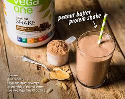 peanut er protein shake recipe 1 banana 5 ice cubes 1 cup non