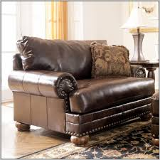 ashley furniture leather chair and ottoman
