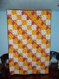 44 best Team Quilt Ideas images on Pinterest | Quilt block ... & College Football Themed Fabric Quilts 50 by 70 Adamdwight.com