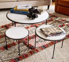 nesting end tables. Louise Marble-Top Nesting Tables, Set Of 3 End Tables