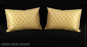 custom silk modern decorative pillows  choose size trim and velvet