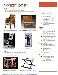 point furniture egypt x:  furniture timeline assignment