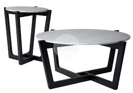 scandinavian marble coffee table side table black