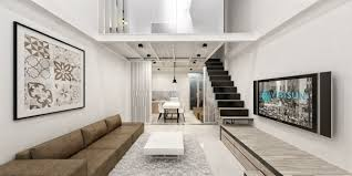 ... Modern Loft Apartment With Built In Storage Under Staircase Modern Loft  Apartment Wonderful 4 On Apartment ...
