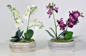 Purple Orchid Artificial Flower Arrangements For Graves