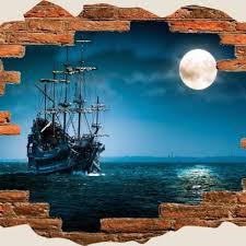 wall pirate ship boat schooner