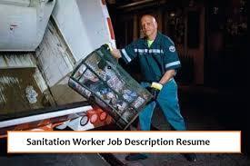 Sanitation Worker Job Description Sanitation Worker Job Description Resume Resume Sanitation
