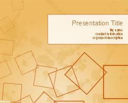 Free Microsoft Powerpoint Templates 2007 Free Squares Powerpoint Template Over Orange Background Slide Design