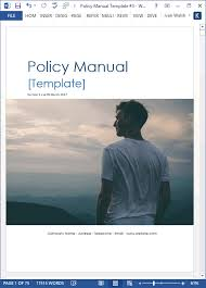 Business Manual Template Policy Manual Template Ms Word Excel Templates Forms