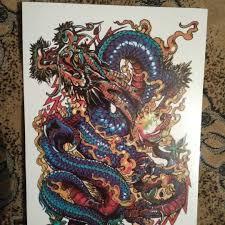флеш тату временная татуировка дракон 2115 см
